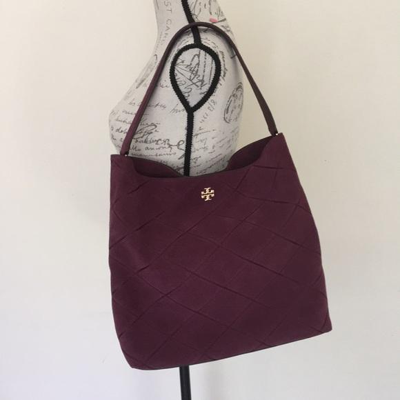 920db585286 Tory Burch Frida stitched suede hobo shoulder bag.  M 5b8eb85f04ef507da80ec5b7